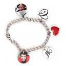 Bracelet 5 pendentifs rond personnalisés [x]
