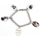 Bracelet 5 pendentifs ovale personnalisés [x]