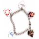 Bracelet 1 à 5 pendentifs coeur personnalisés